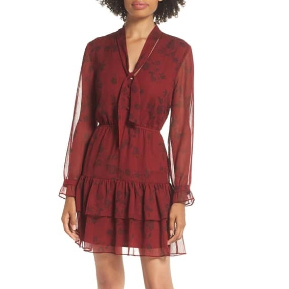 BB Dakota Dresses & Skirts - BB Dakota Wine Down Chiffon Dress, Size XS